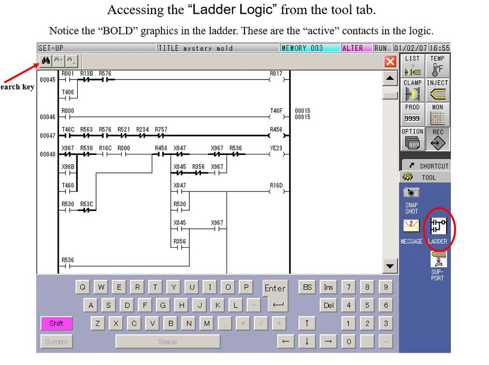 V50 Accessing Ladder Logic